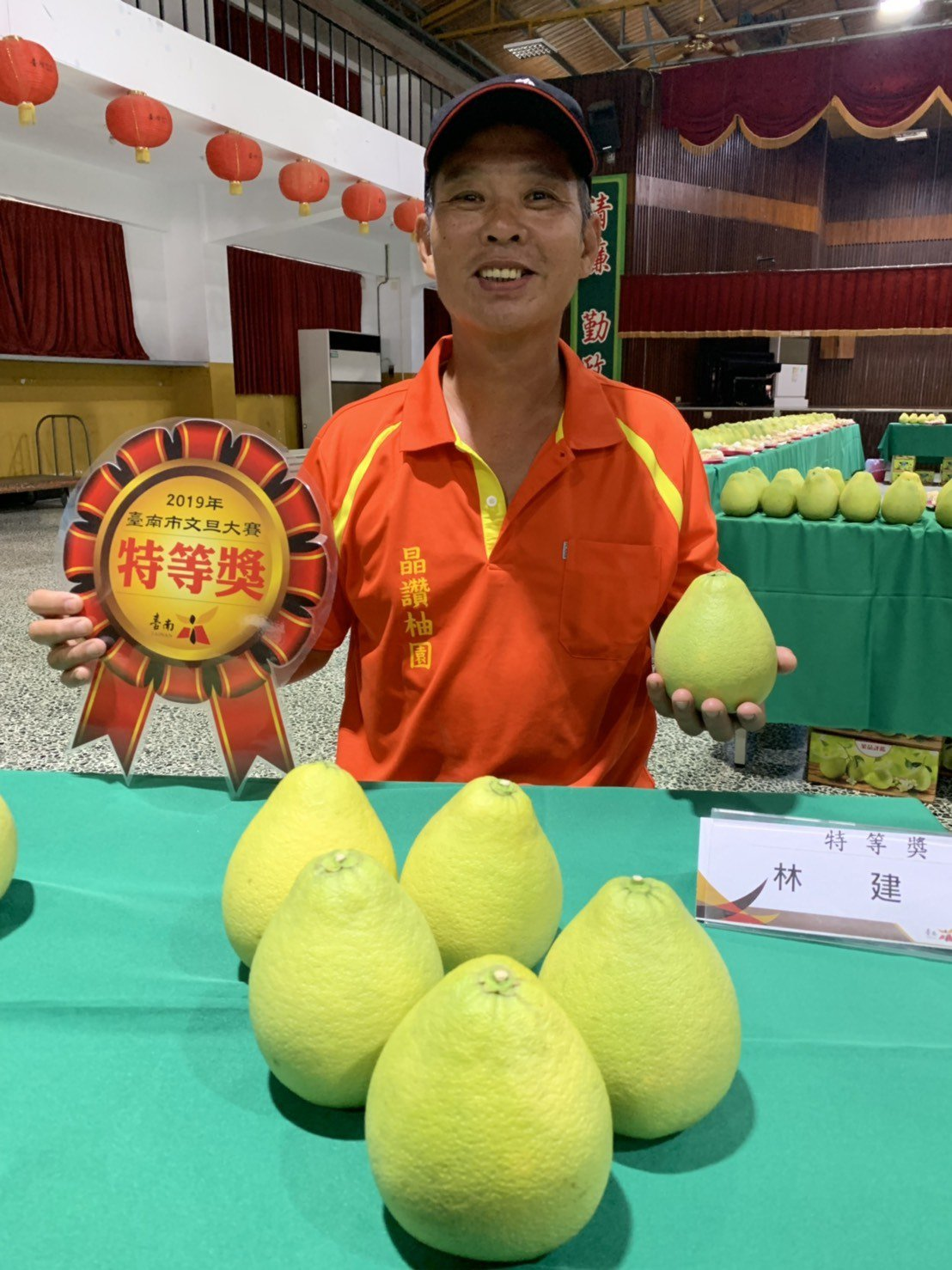 麻豆柚農林建良獲今年台南文旦王。記者吳淑玲/攝影