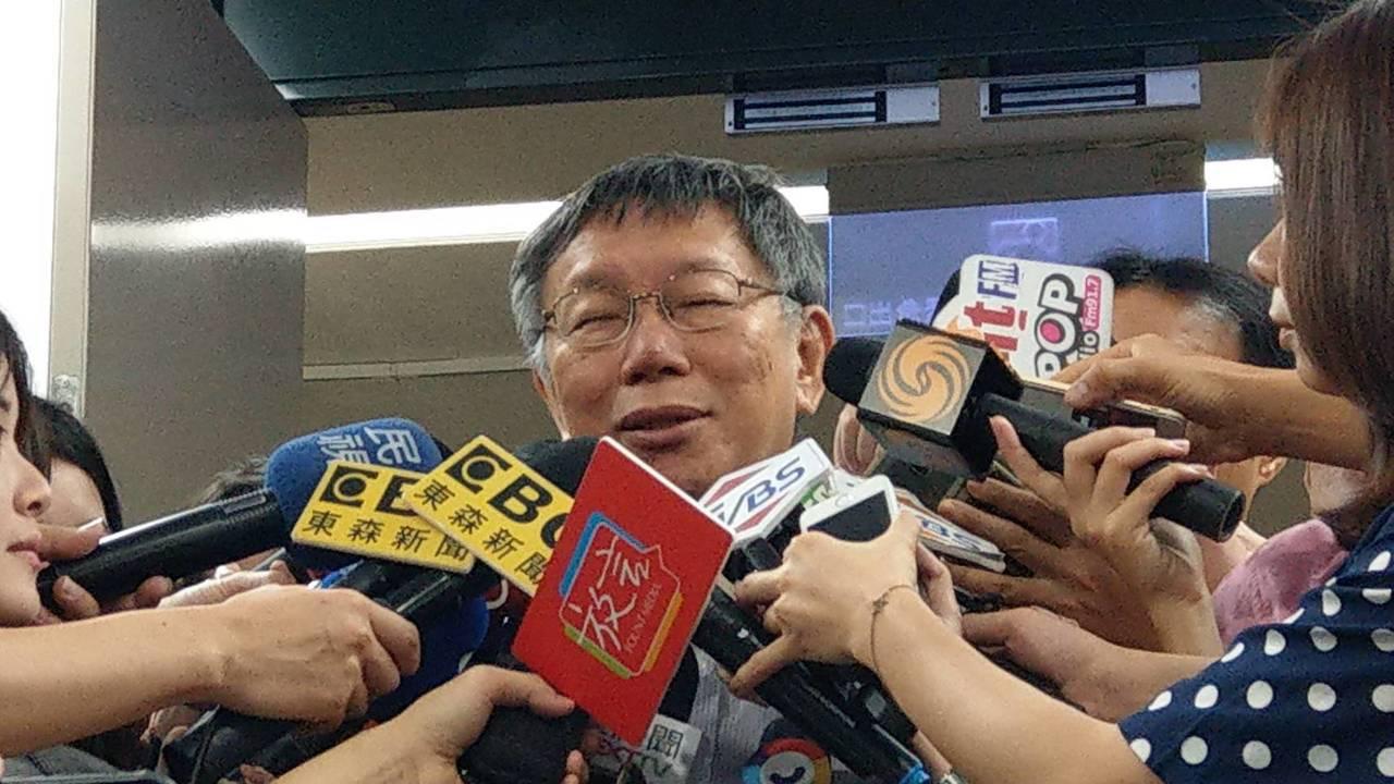 台北市長柯文哲。記者楊正海╱攝影