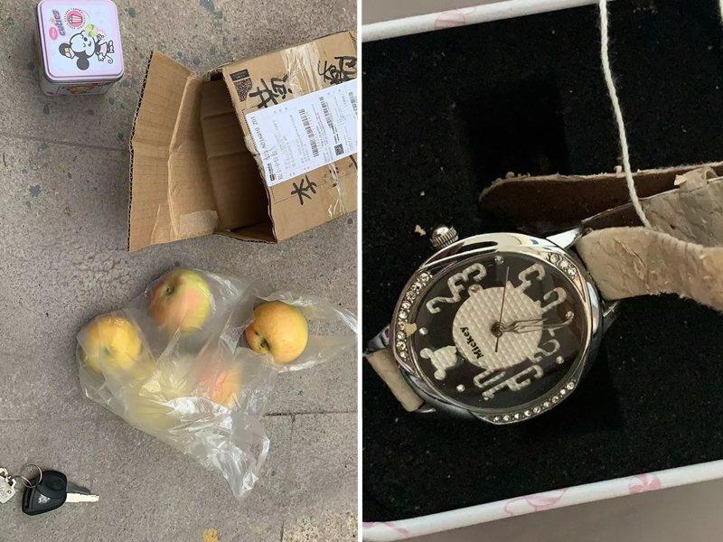 山東一名男子網購二手蘋果手表,收貨竟收到4個蘋果和一支兒童手表。圖:星島日報網站