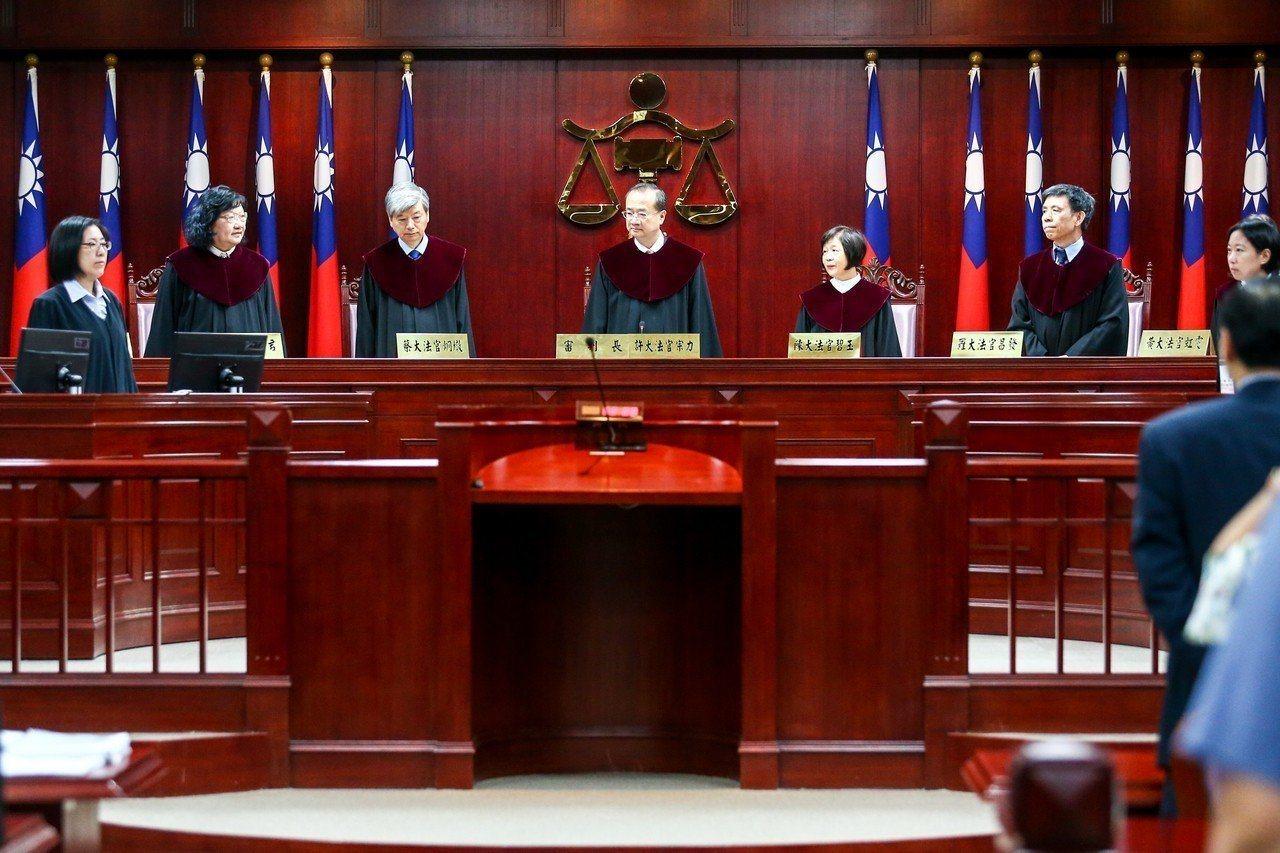 憲法法庭6月25日召開教師年改釋憲案言詞辯論。聯合報系資料照片/記者王騰毅攝影