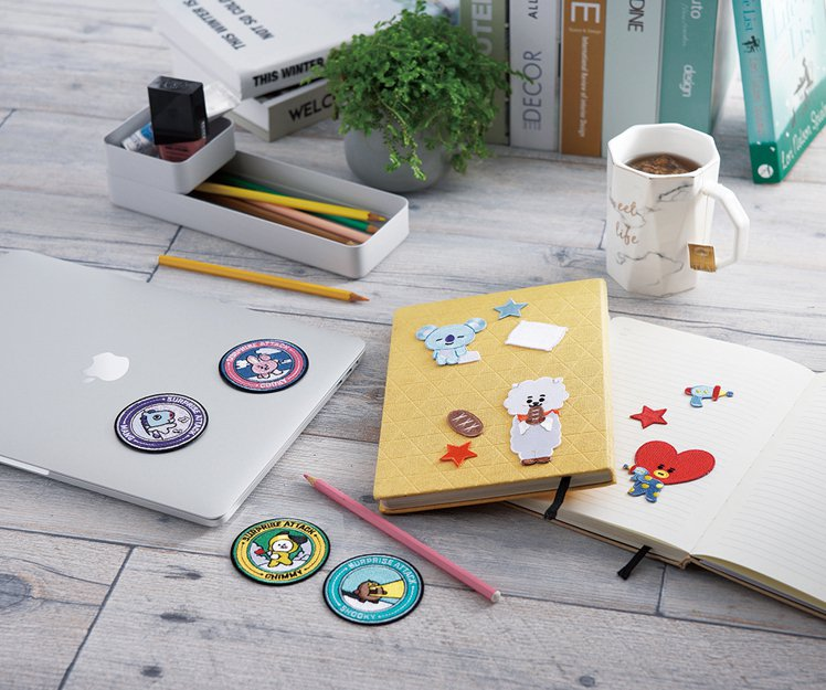 BT21黏燙兩用繡片系列,售價129~199元。圖/HOLA提供
