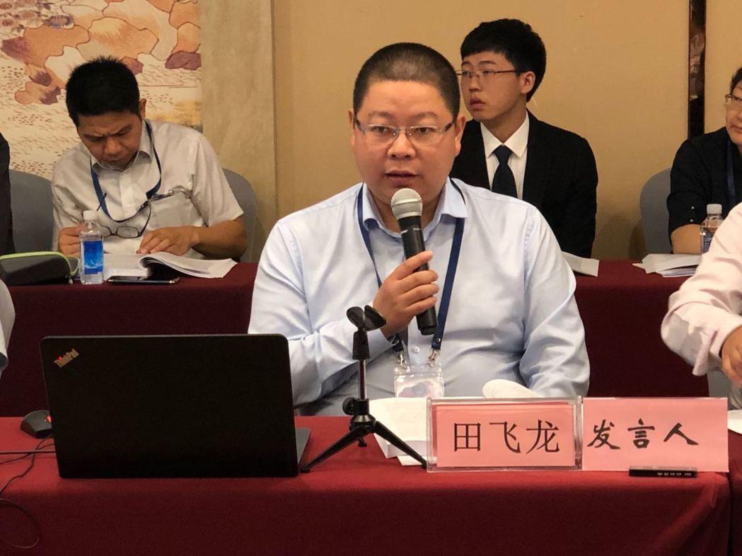 北京航空航太大學一國兩制法律研究中心執行主任田飛龍提出「以我為主」的「主場統一」...