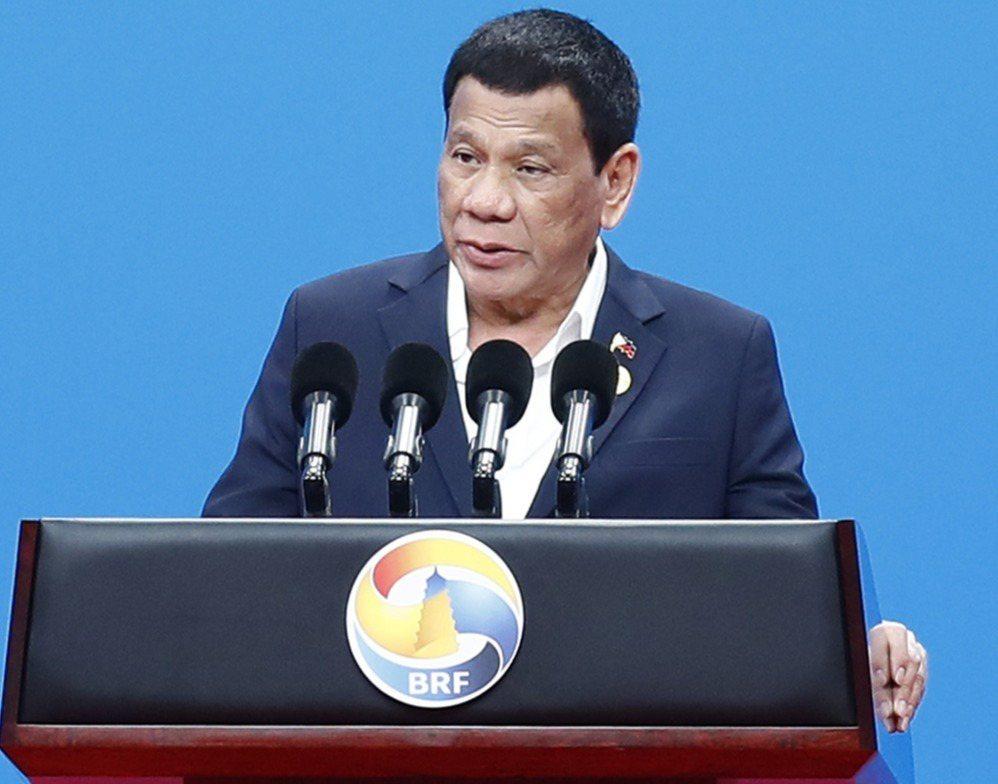 菲律賓總統杜特蒂將於8月28日訪華。圖為今年4月26日杜特蒂到北京參加第二屆「一...