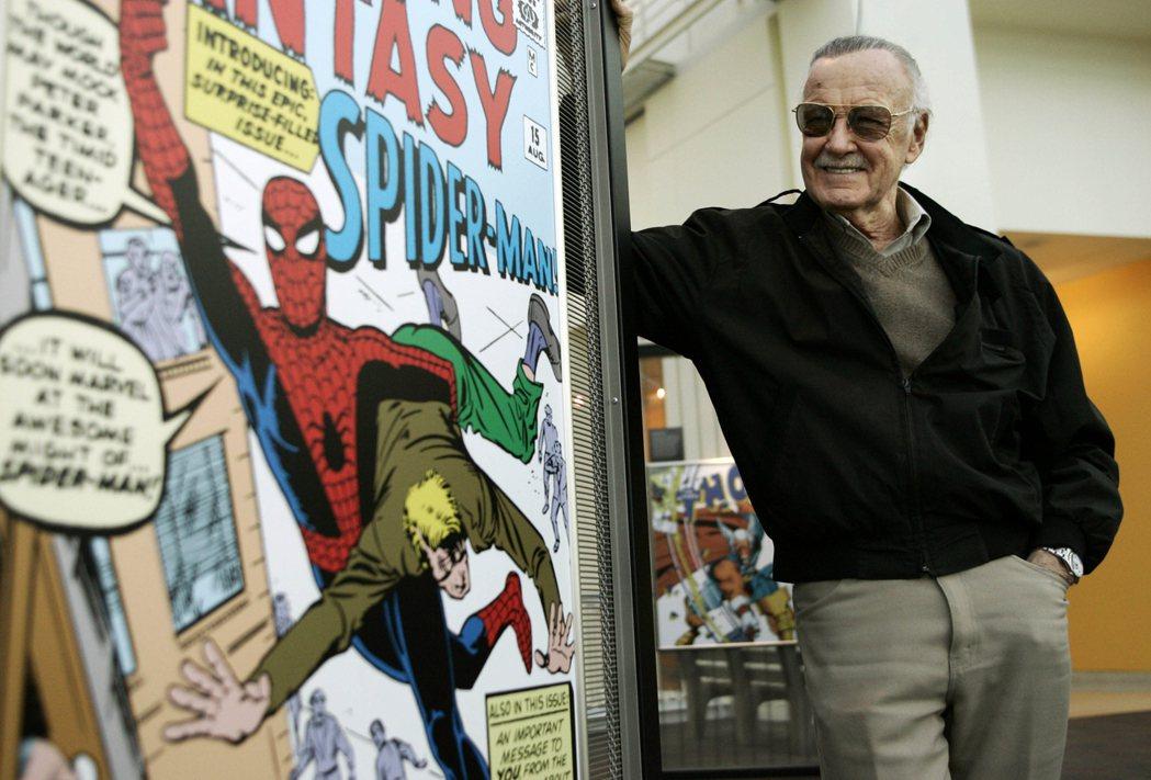 蜘蛛人堪稱是史丹李生前最鍾愛的角色。美聯社
