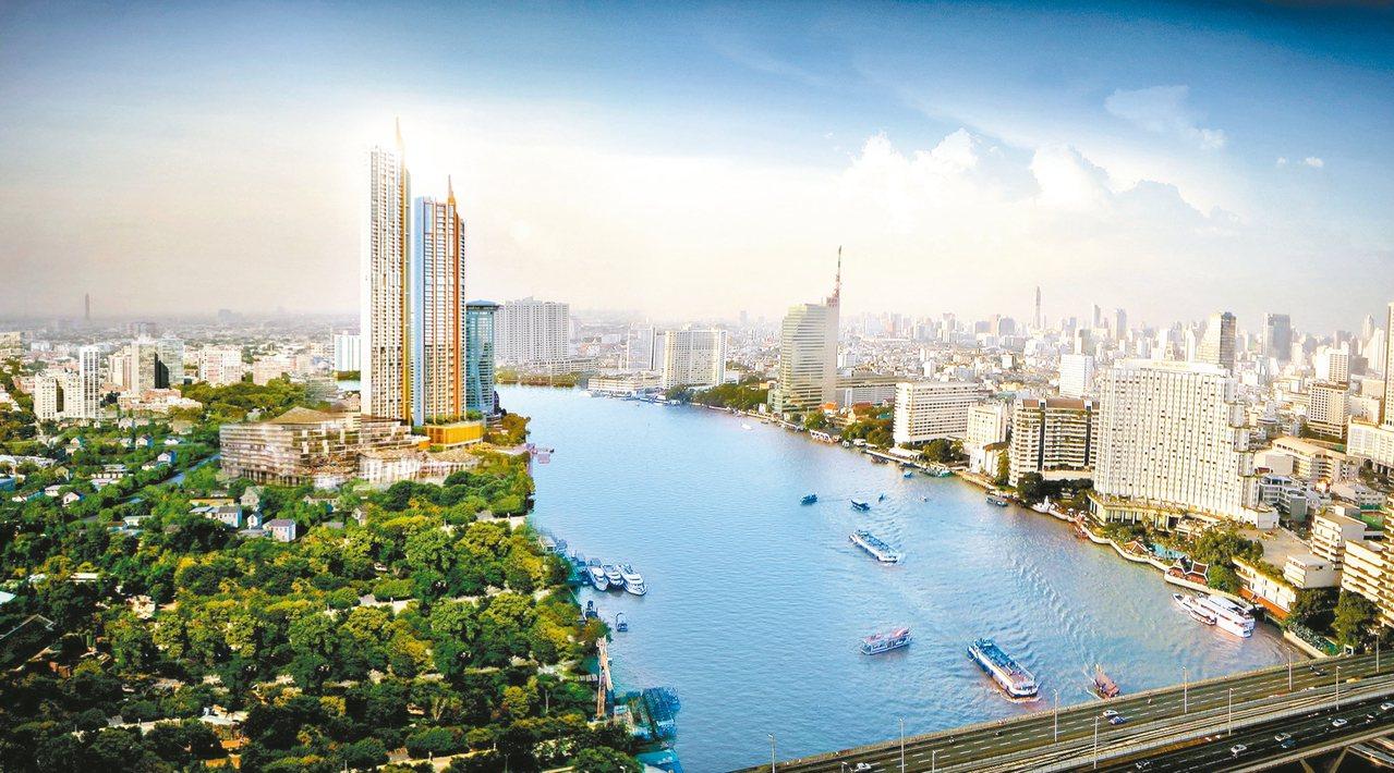 超奢華豪宅「曼谷文華東方公寓」(圖中)為泰國最貴酒店式公寓。 圖╱The Res...