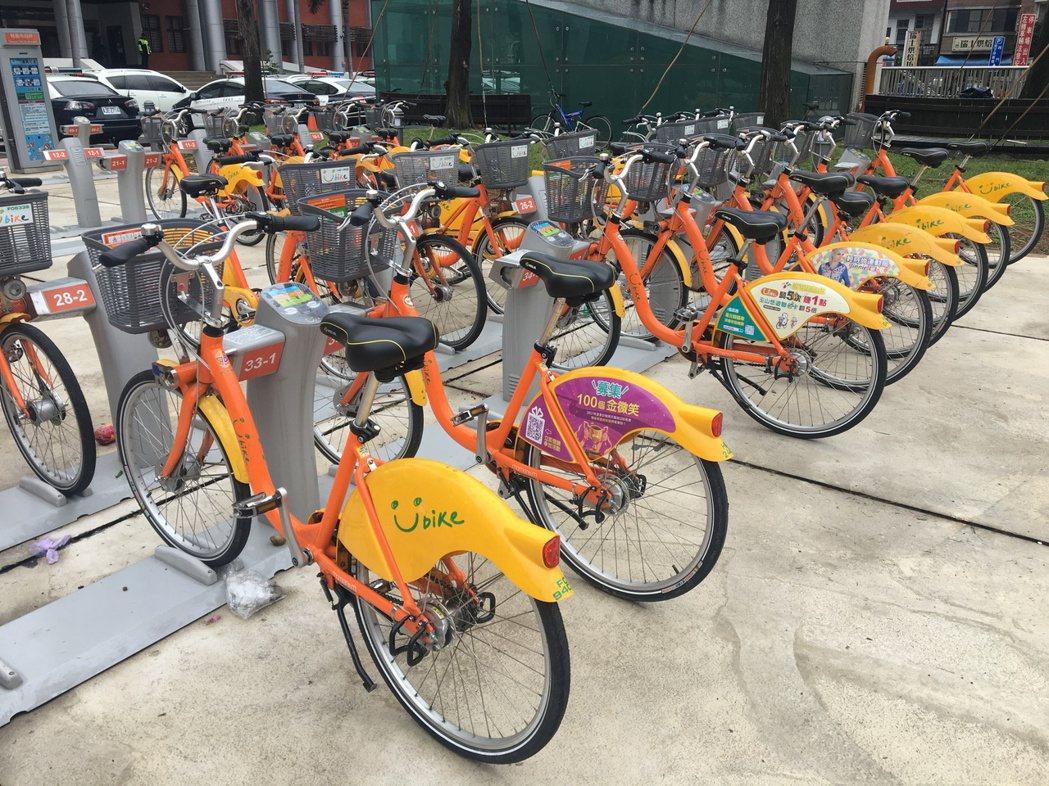 台北、新北、桃園、苗栗YouBike今年度公共自行車保險人次,約300萬人次,僅...
