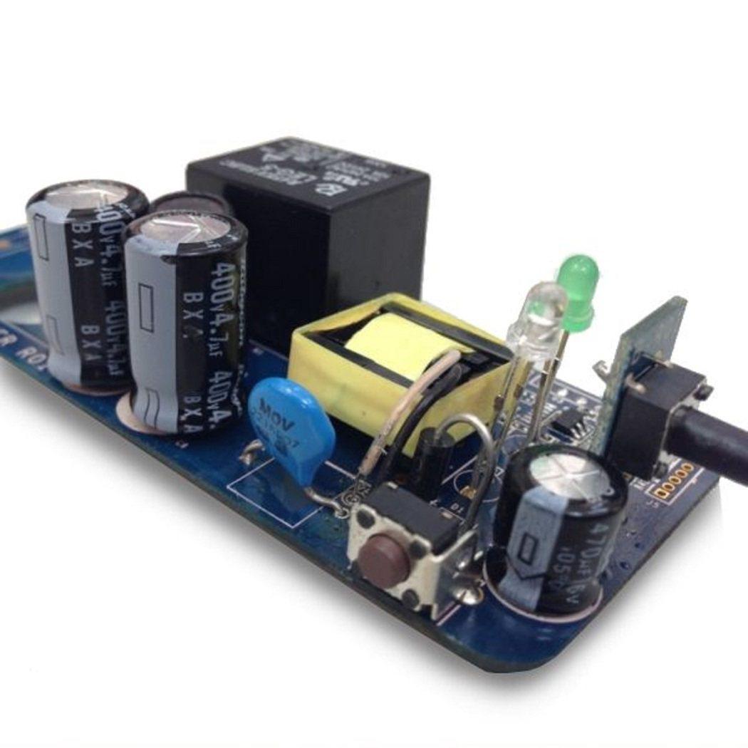 智慧插座裡含有Apple HomeKit 晶片的主機板。 圖/釩創提供
