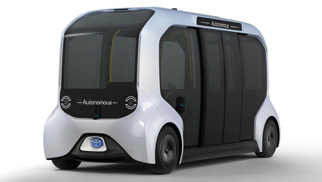 Toyota自駕巴士e-Pallete。 摘自Toyota