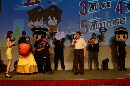 首位警察局長新北市警察局局長陳檡文親臨六都電競總決賽。 新北市警察局/提供
