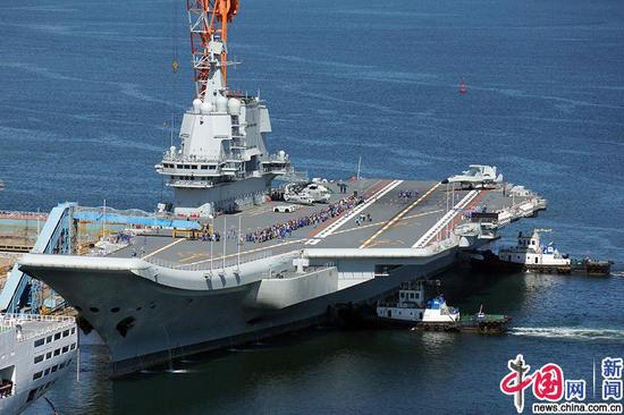 國產航母完成七次海試 海上「畫弧」試驗急轉彎 十一前入戰列在望 取材自中國網