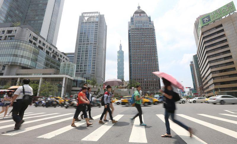 圖為台北街景。中央社