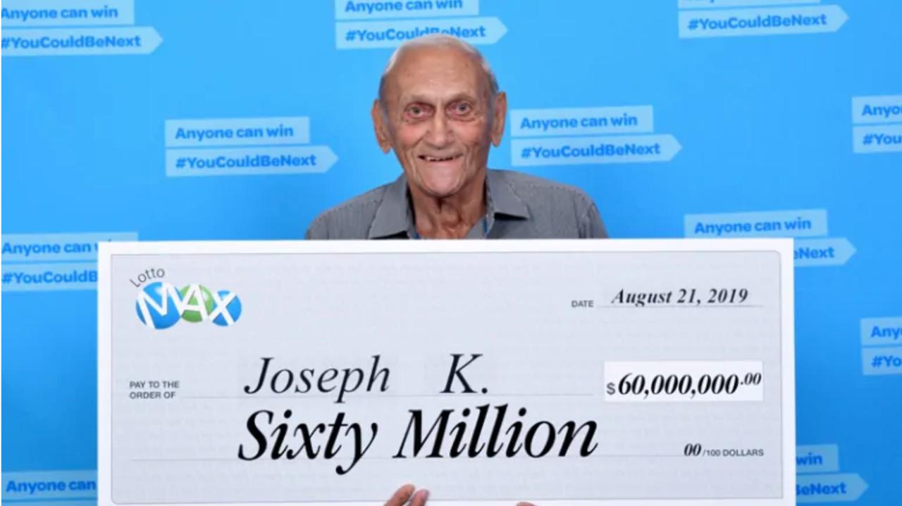 約瑟夫中了彩券頭獎18億元。圖/取自《CBC》