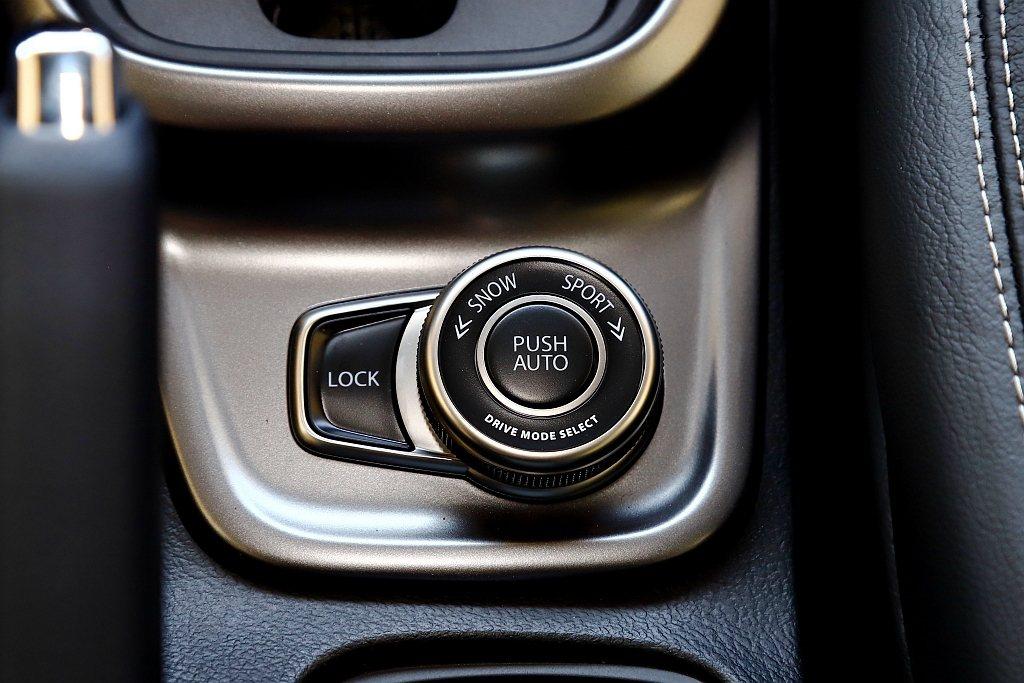 ALLGRIP駕駛可調模式具備自動AUTO、運動SPORT、雪地SNOW、鎖定L...