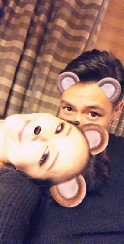 Elva選在40歲生日凌晨,認愛小16歲鮮肉男友黃皓。圖/摘自臉書