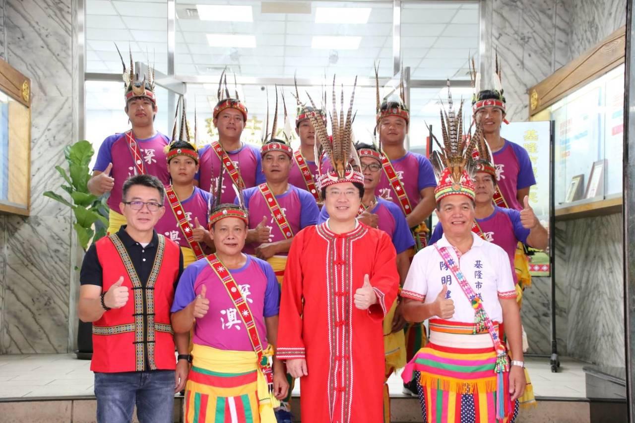 基隆市原住民聯合豐年祭,今天在原住民文化會館廣場盛大登場,市長林右昌和全市各地區...