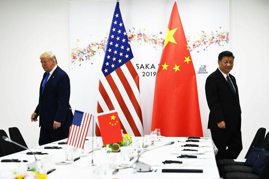 美國總統川普23日在推特發文抨擊中國大陸國家主席習近平。圖為兩人6月29日出席大阪高峰會資料照片。法新社