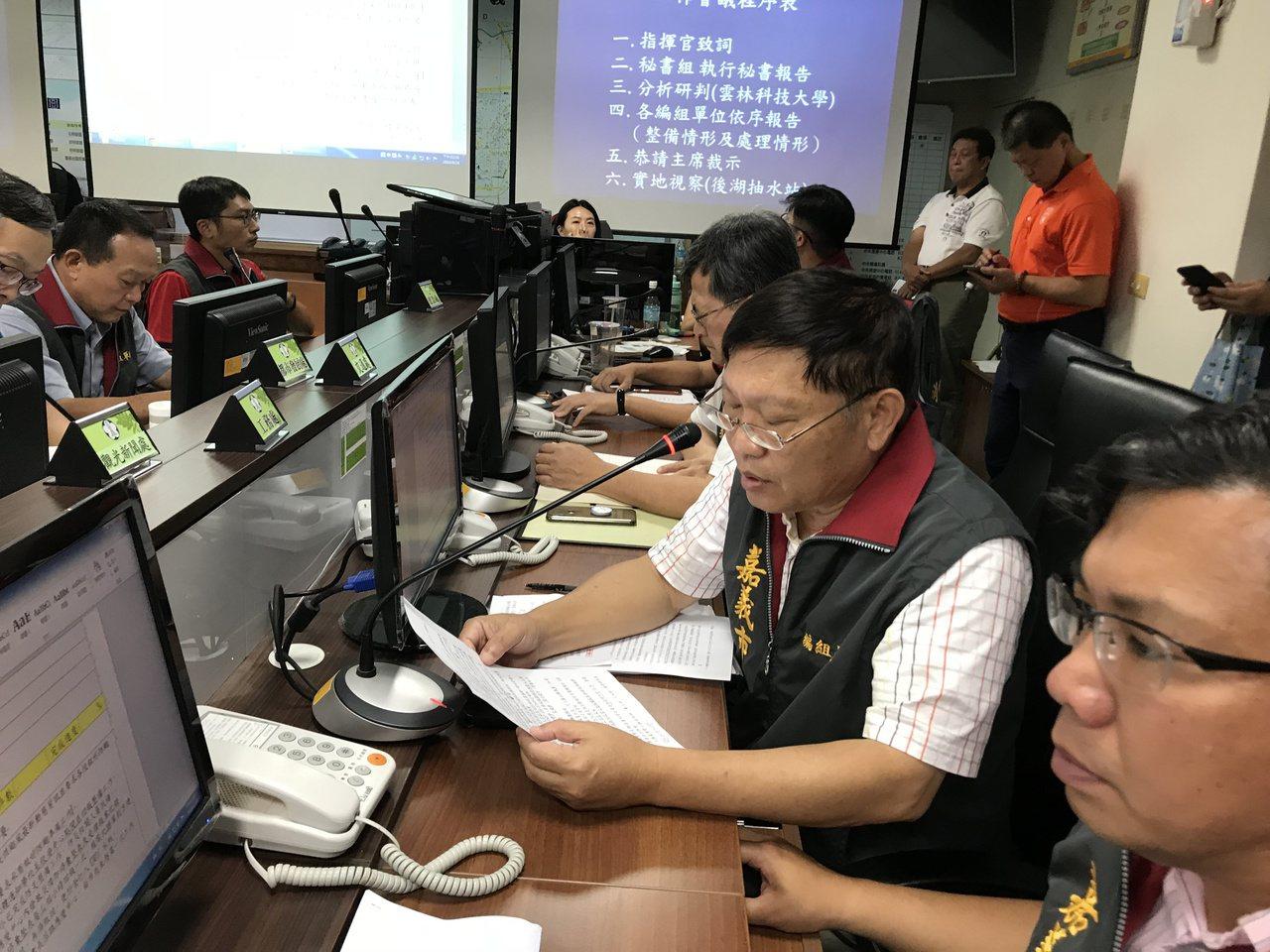 影╱白鹿颱風侵台 黃敏惠坐鎮指揮中心