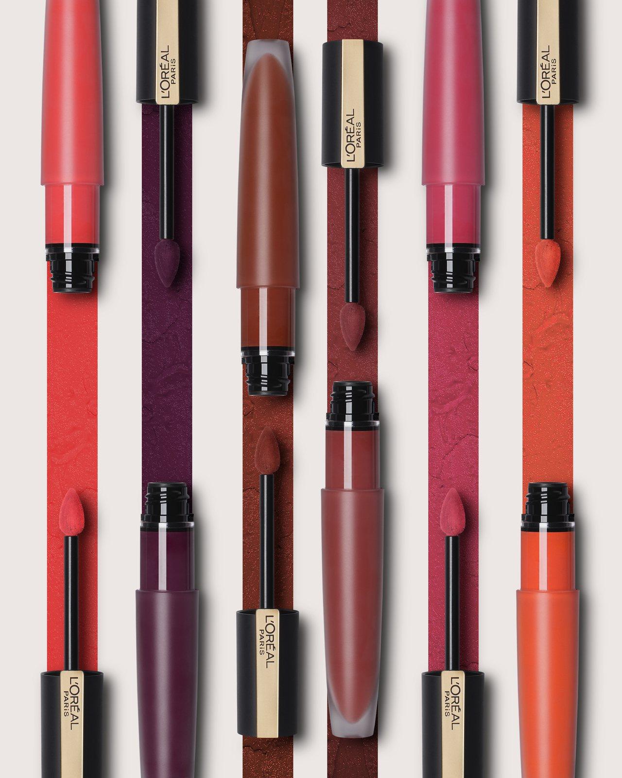 巴黎萊雅持色印記空氣吻唇露將於9月推出全新4色。圖/巴黎萊雅提供