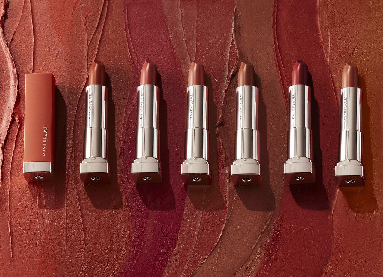 MAYBELLINE媚比琳極綻色絲絨霧光唇膏將於今年9月推出全新6色微醺系列。圖...