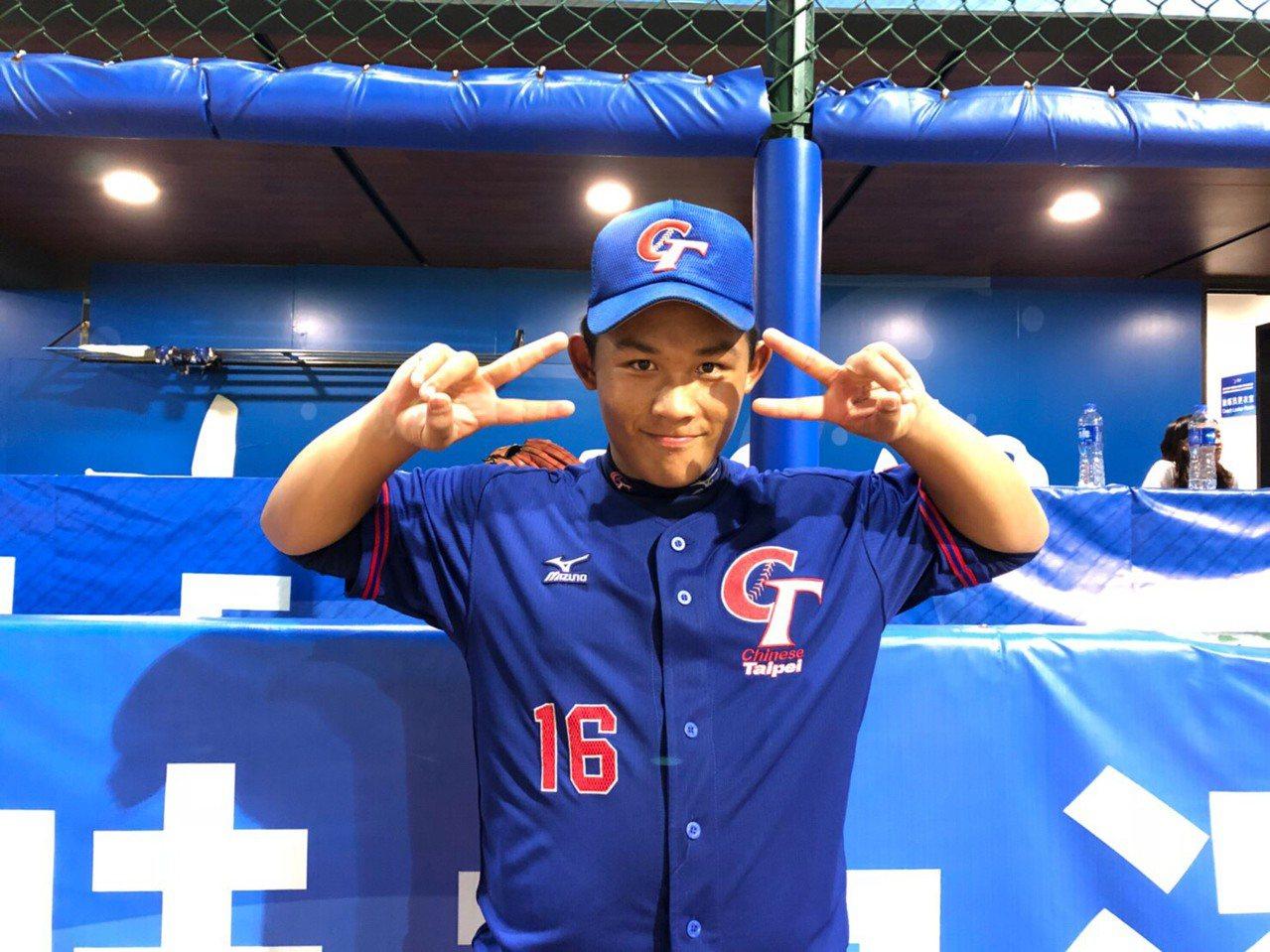 中華隊林孟佶先發7局沒有被敲出安打、無失分。圖/中華棒球協會提供