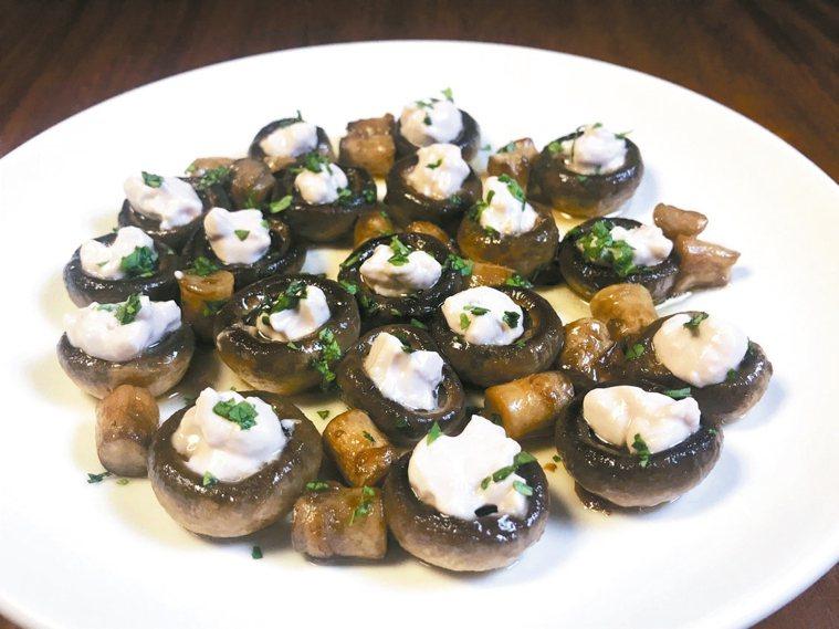 烈火蘑菇佐蒜味黑豆醬