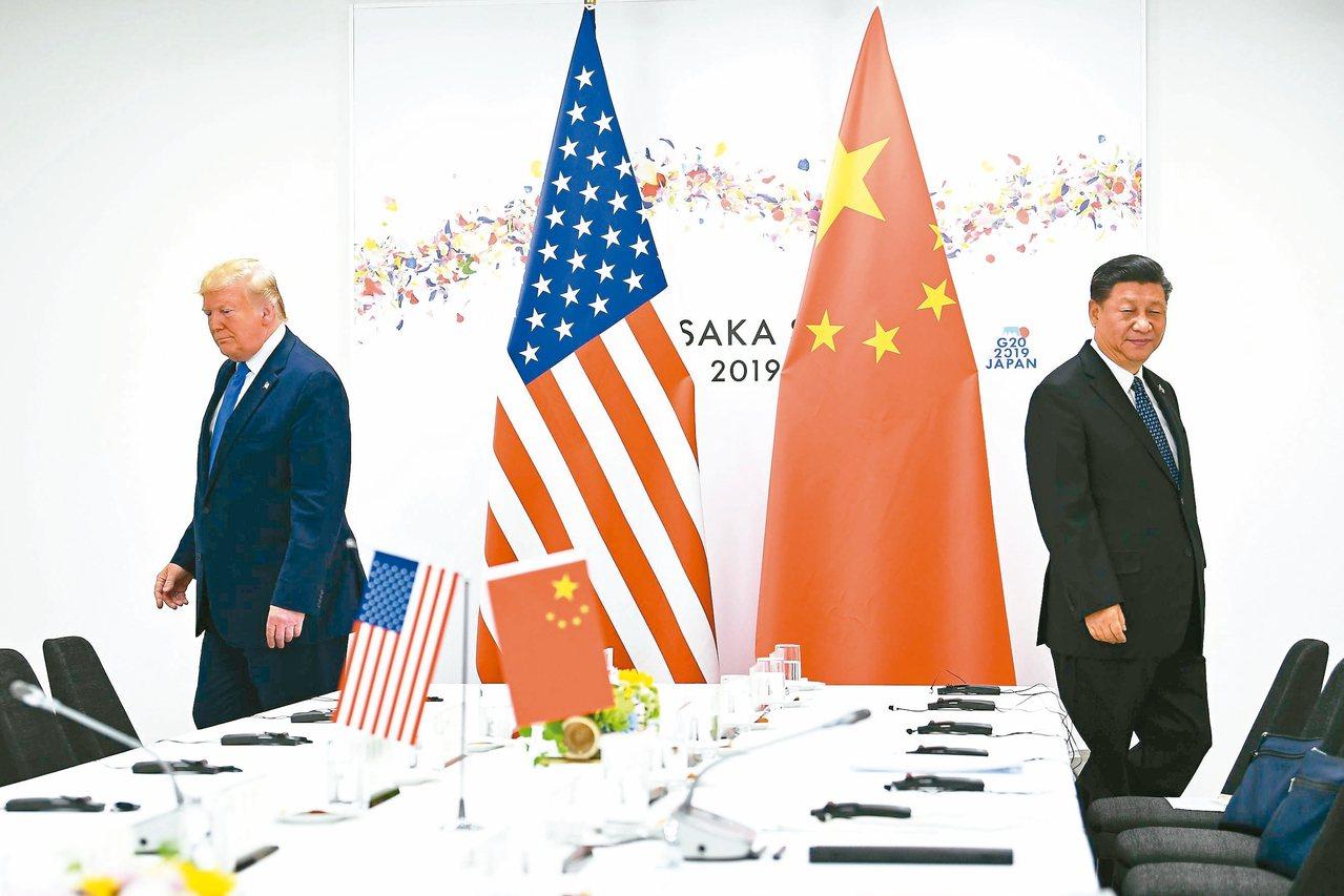 美國總統川普(左)與中國大陸國家主席習近平上一次會晤是在今年六月的G20峰會,如...