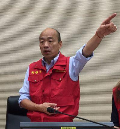 因應白鹿颱風,高雄市長韓國瑜下達兩項「動員令」。 記者楊濡嘉/攝影