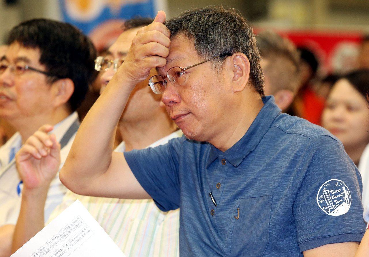 台北市長柯文哲。記者林俊良/攝影