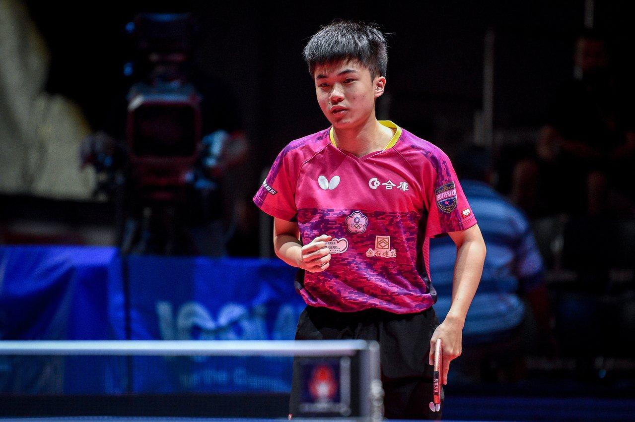 台灣桌球小將林昀儒闖進捷克公開賽男單決賽。 歐新社