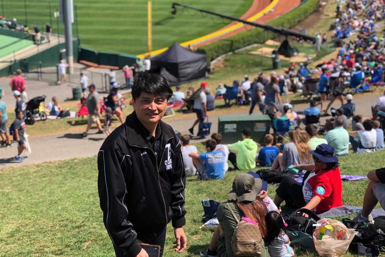 馮勝賢在31年前曾拍照的地點再次留下照片。馮勝賢/提供