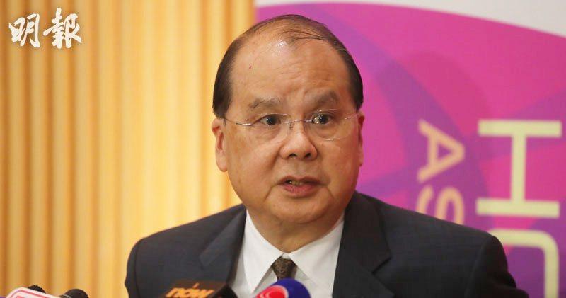 香港政務司長張建宗表示,學校絕非表達政治主張地方。取自香港明報