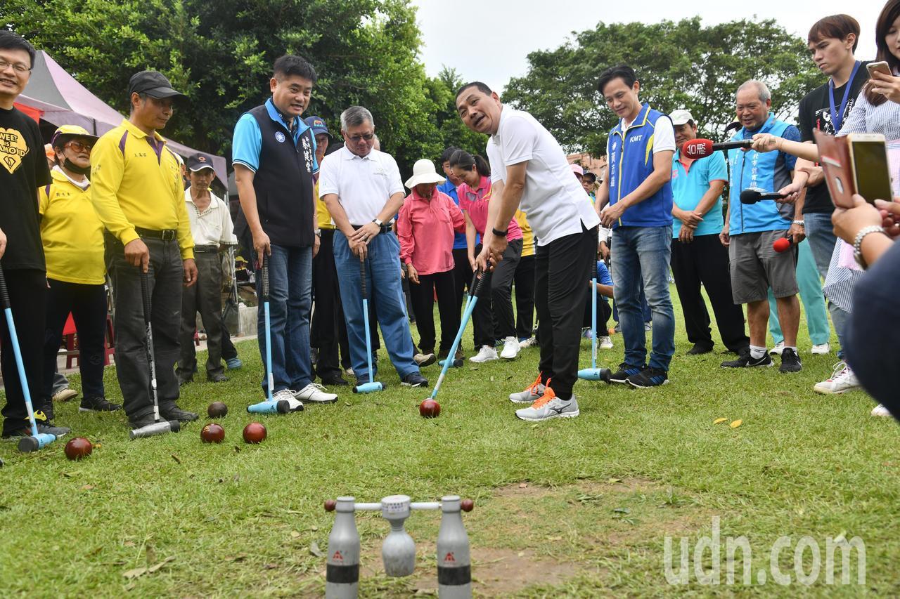 侯友宜今天出席108年秋季體育聯合競賽木球邀請賽。記者張曼蘋/攝影
