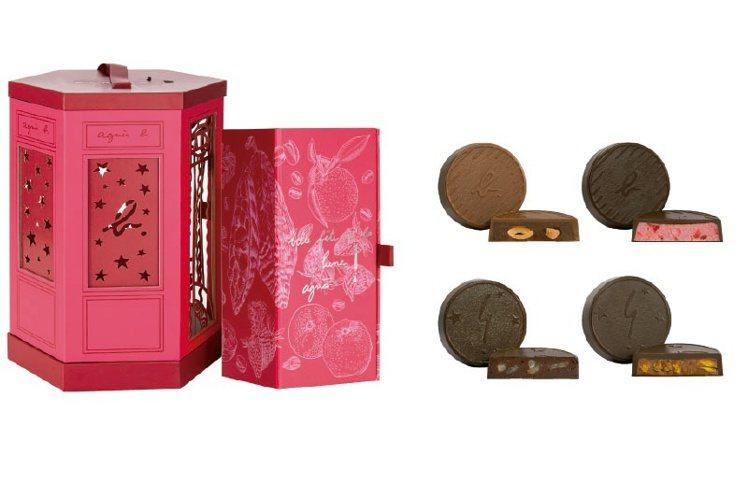 花團錦簇巧克力月餅燈籠禮盒,2,580元。圖/agnès b.提供