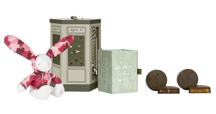 花好月圓迷彩小兔月餅燈籠禮盒,優惠價2,880元 (原價3,160元)。圖/ag...