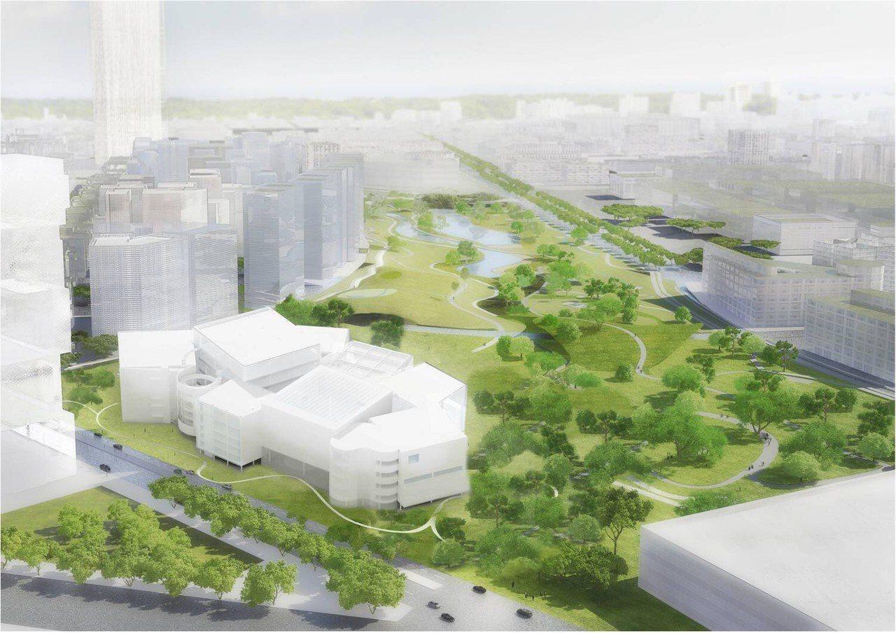 妹島和世、西澤立衛聯手打造台中綠美圖,9月16日開工,為台中城再添世界級地標。圖...