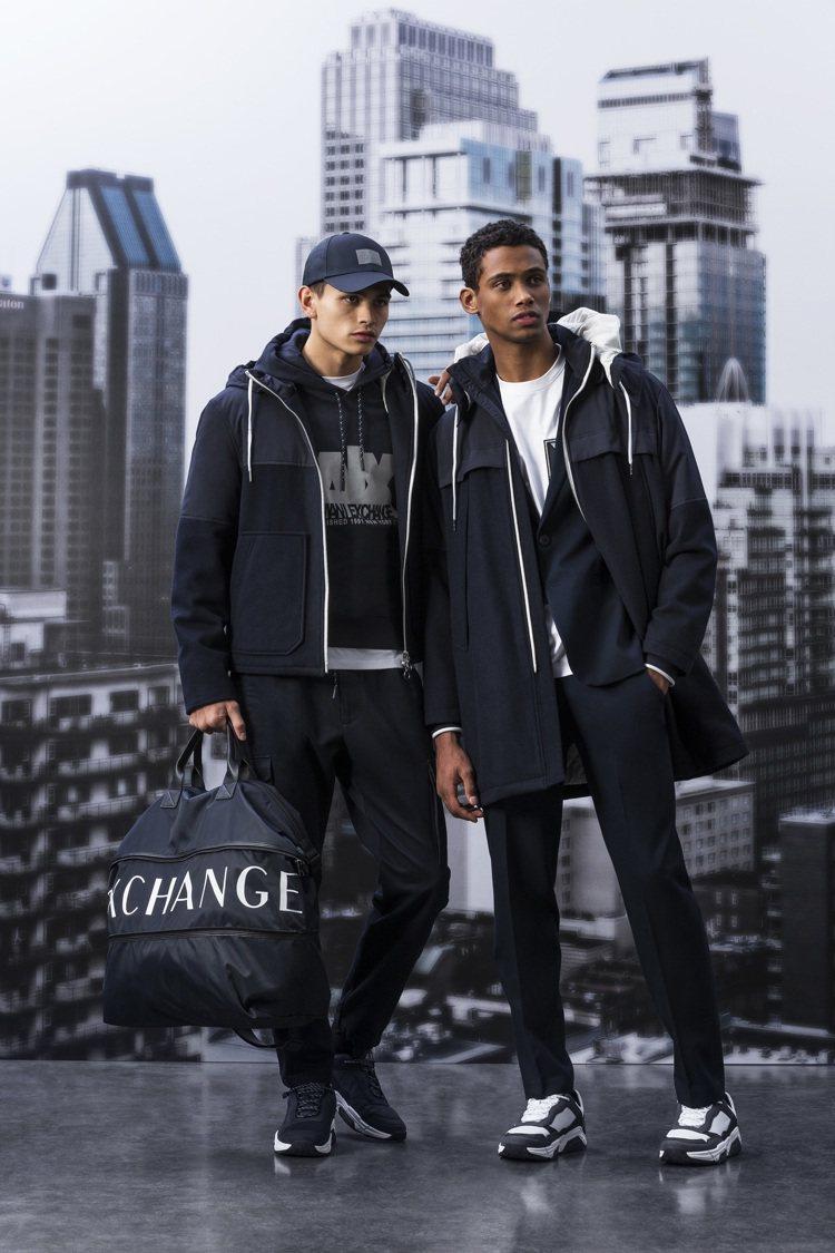 A|X Armani Exchange秋冬男裝系列延續不羈的中性風格,設計靈感源...