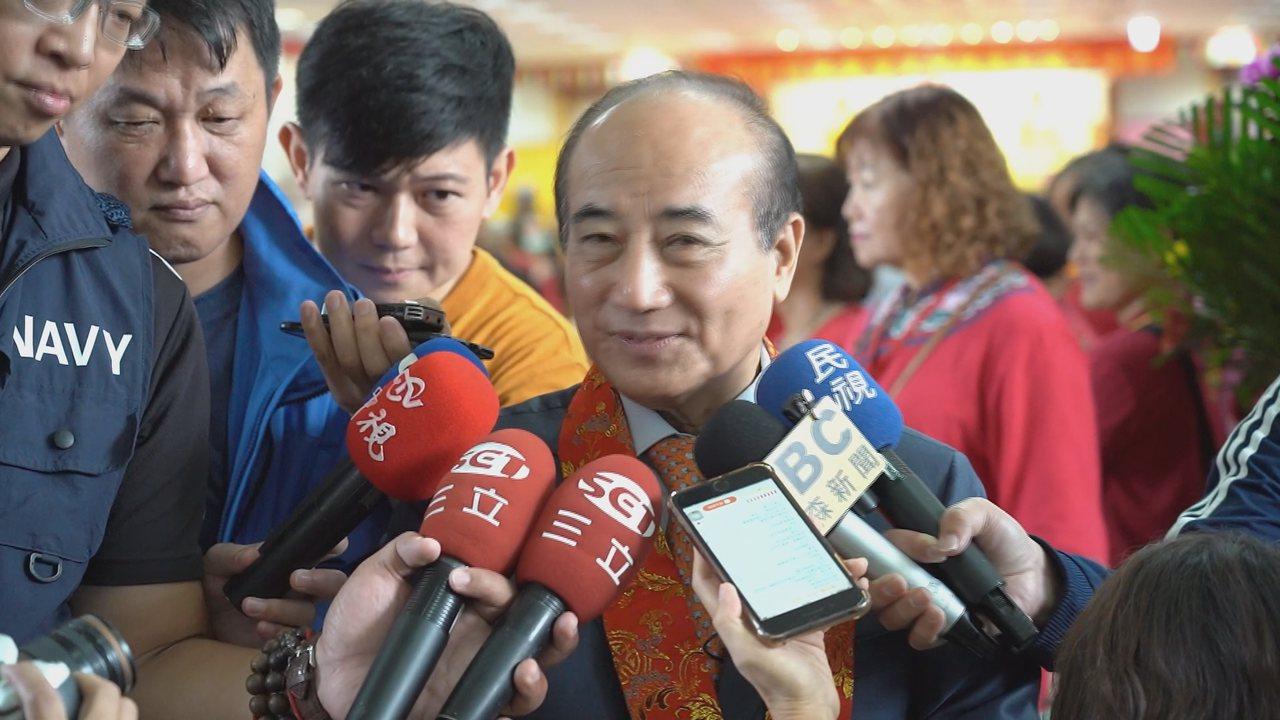 王金平上午受訪仍堅持參選到底。記者王彥鈞/攝影
