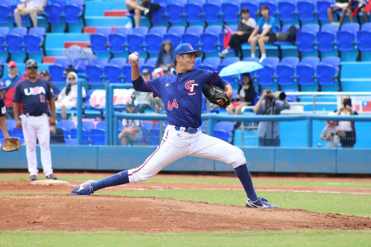 中華隊先發投手陳柏毓。圖/中華棒球協會提供