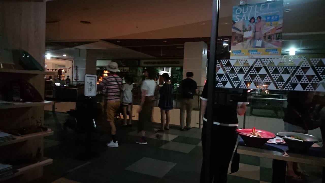 三井台中港outlet今晚大停電。圖╱讀者提供