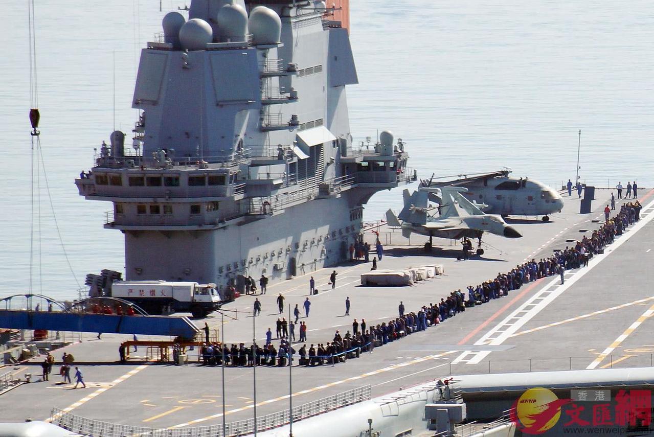大陸首艘自製航母在完成第七次海上試航後,本月廿三日返回遼寧大連造船廠。 圖/取自...