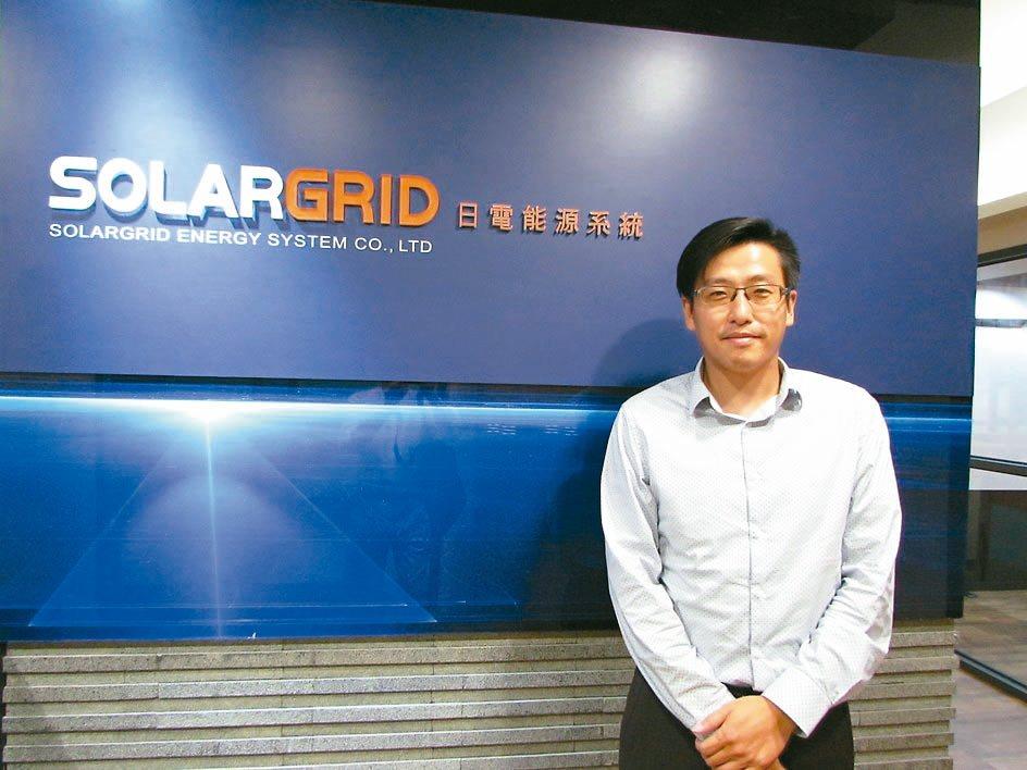 日電能源總經理楊育正。 翁永全/攝影