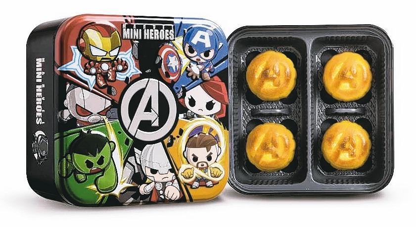 迷你英雄超級聯盟月餅。 圖/美心提供