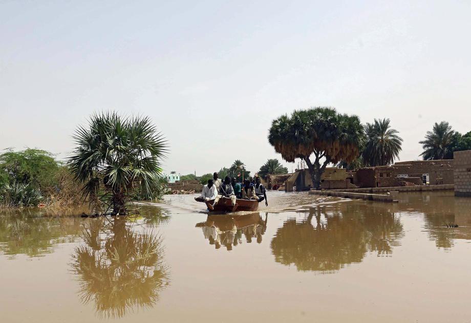 蘇丹豪雨暴洪已造成62人喪命,另有98人受傷。歐新社