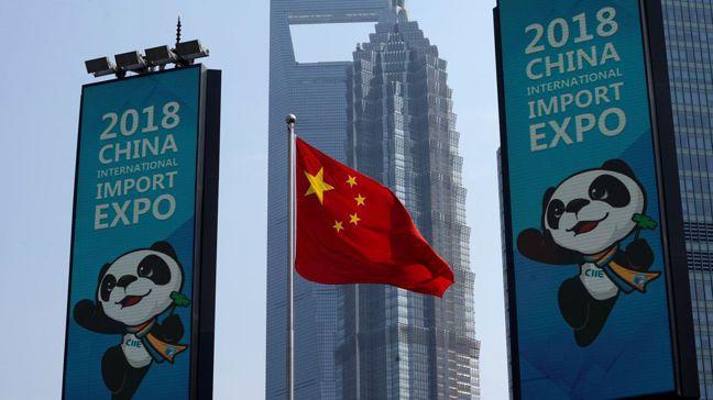中國大陸在去年辦了全球首屆的進口博覽會,並決定年年舉辦。圖/路透