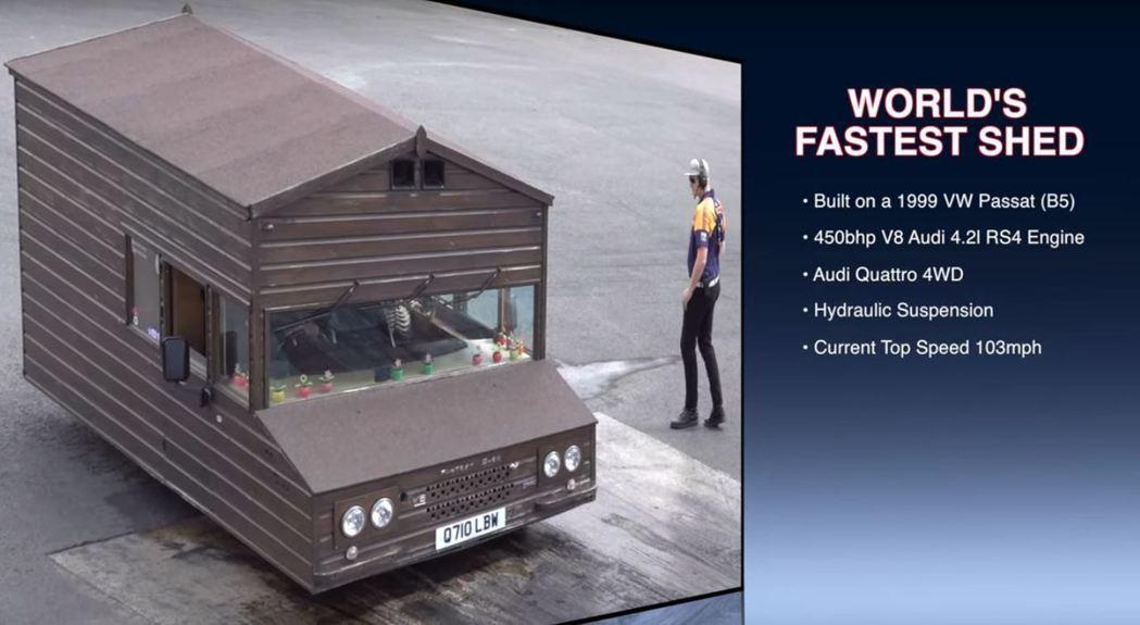 這棟小木屋極速可高達165km/h。 截自VeeDubRacing影片