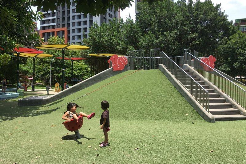 台北市中山區的榮星花園公園。 圖/聯合報系資料照