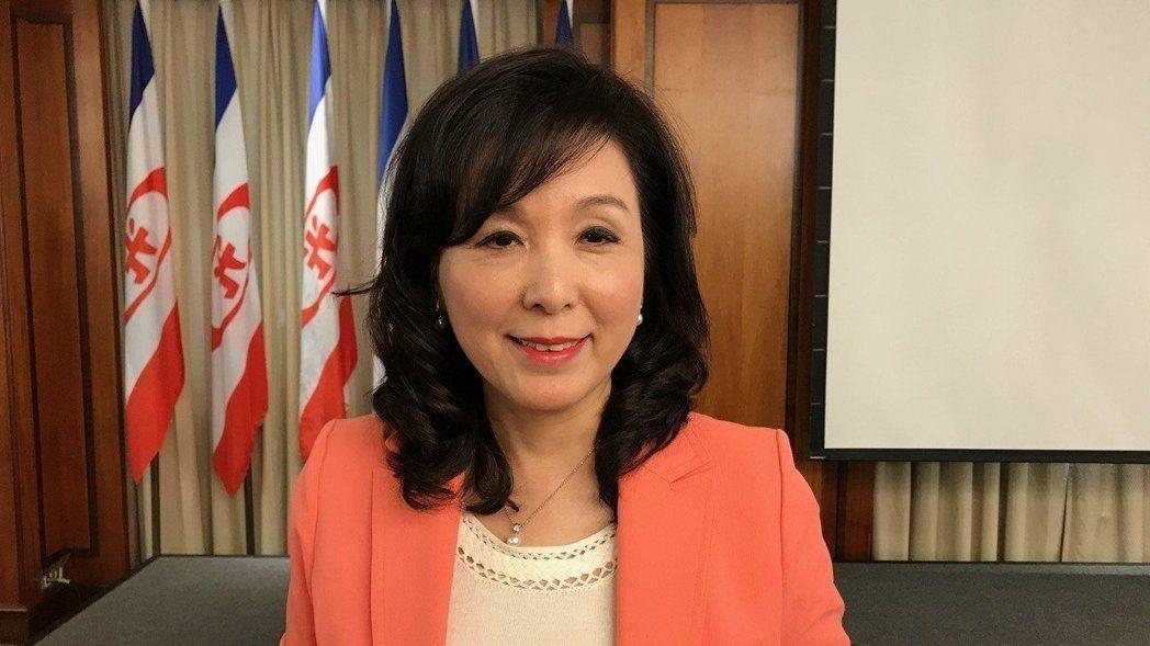 圖為新光金控副董事長李紀珠今年3月28日出席新光金第1季法說會。記者陳怡慈/攝影