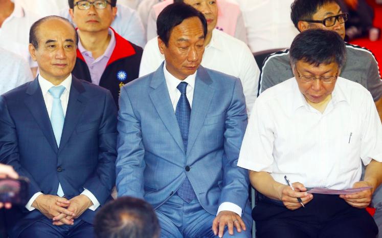 2020大選,郭柯王三人合作結盟態勢越來越明顯。圖/本報資料照片