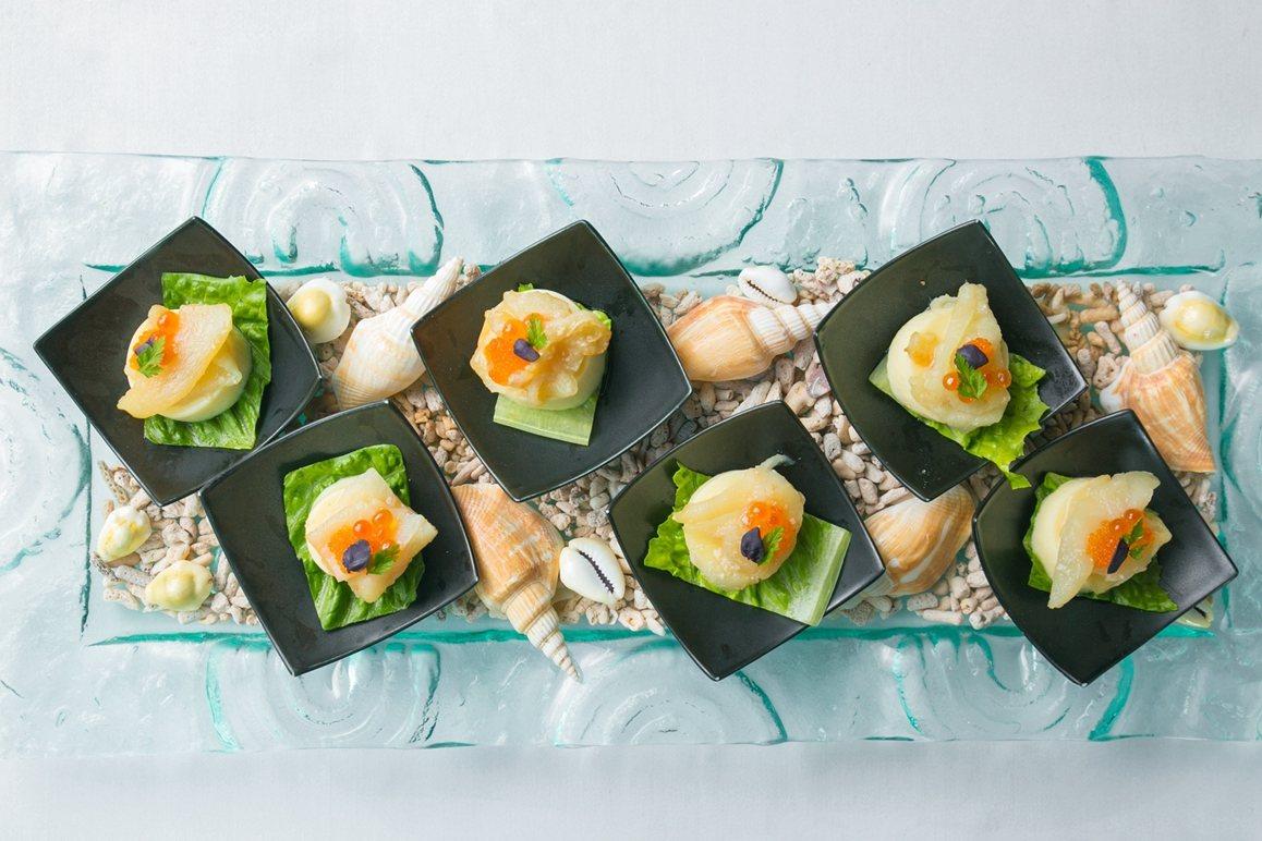 美麗信花園酒店雨林餐廳現正推出「海派澎湖絕鮮饗宴」。圖/美麗信花園酒店提供
