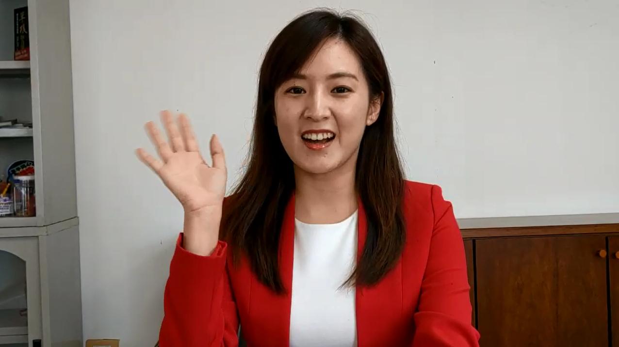 台視主播何庭歡轉戰韓國瑜競選總部發言人滿三周。記者劉宛琳/攝影